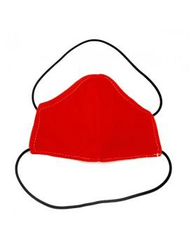 mascareta infantil de roba de color vermell. Mascareta FFP2 reutilitzable